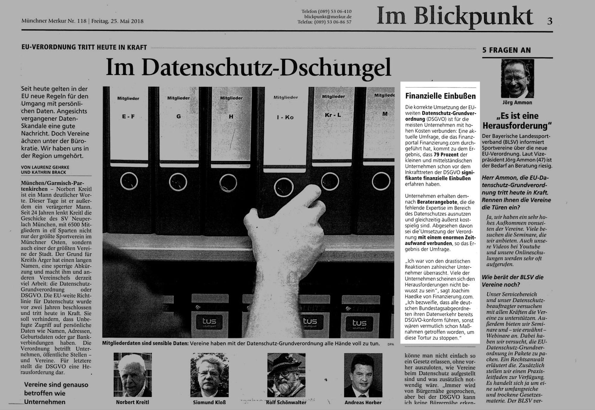 Finanzierung.com im Münchner Merkur